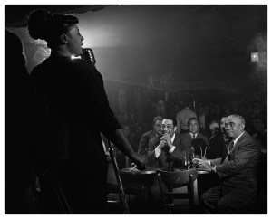 HANDOUT PHOTO: Ella Fitzgerald, Duke Ellington & Benny Goodman, NYC, 1948 photographed by Herman Leonard.  (Herman Leonard Photography, LLC)MANDITORY CREDIT ONE TIME USE ONLY WITH CREDIT FOR OBIT ONLY  StaffPhoto imported to Merlin on  Tue Aug 17 18:42:14 2010